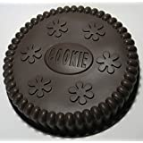 "cmsHome(R) Premium Silicone Novelty 9"" Round Cake Cookie Baking Pan Mold Non-stick Brown"