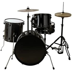 groove percussion 4 piece drum set with hardware and cymbals musical instruments. Black Bedroom Furniture Sets. Home Design Ideas