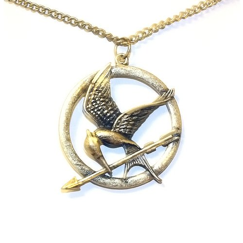 Top Value Jewelry- Beautiful Antique Hunger Games Mocking Jay Pendant Sweater Necklace for Women- Super Cute!!