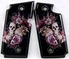 Sig Sauer P238 Left Side Safety SPD Acrylic Custom Grips Pink Skulls and Roses