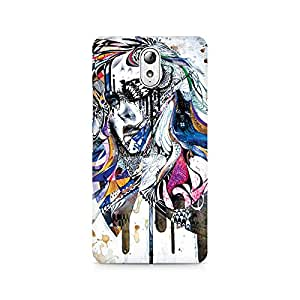 Mobicture Girl Abstract Premium Designer Mobile Back Case Cover For Lenovo Vibe P1M