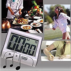 LussoLiv Magnetic Digital Large LCD Kitchen Food Cooking Timer Kitchen Measuring Tools
