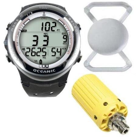 Xmas Sale Price Reduced $400 - New Oceanic Atom 3.1 Dive Computer (White) Complete With Yellow Transmitter, Free Lens Protector Valued At $12.95 For Added Protection To The Glass Face Of Your Dive Computer & Free Online Training