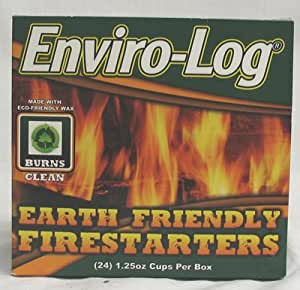 ENVIRO LOG FIRESTARTERS 24PC Home Kitchen