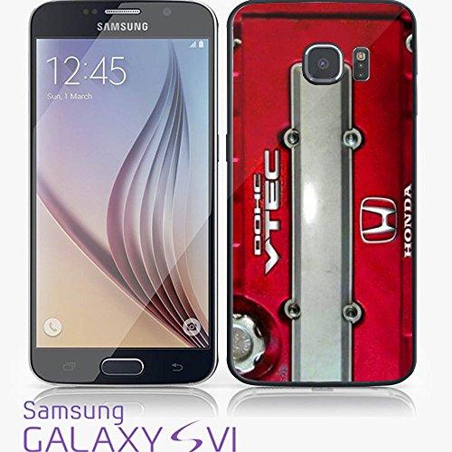 JDM Honda DOHC Vtech Valve Cover Red for Iphone and Samsung Galaxy (Samsung Galaxy S6 black) (Honda Vtech Emblem compare prices)