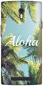 The Racoon Lean aloha hard plastic printed back case / cover for Oppo Find 7
