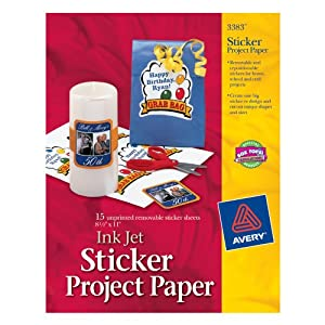 Click to buy Avery Sticker Project Paper, White, 8.5 x 11 Inches, Pack of 15 from Amazon!