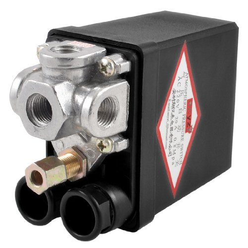 Air Compressor Pressure Switch Control Valve 115PSI 8 Bar 4 Ports