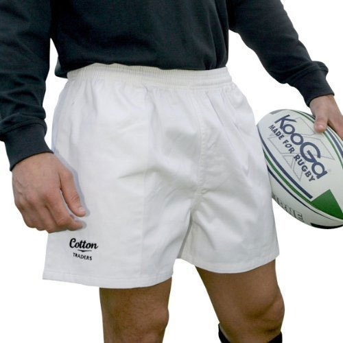 Cotton Traders Twill Rugby Shorts (White) All Sizes Available rrp£15