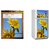 Appliance Art Sunflowers Refrigerator and Dishwasher Combo Magnet (T&B) Cover ~ Grip Promotions