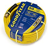 Goodyear EP 46505 3/8-Inch by 50-Feet 250 PSI Rubber Air Hose with 1/4-Inch MNPT Ends and Bend Restrictors