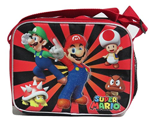 Super Mario Insulated Lunch Bag - Mario, Luigi, Toad, Bowser and Goomba - 1