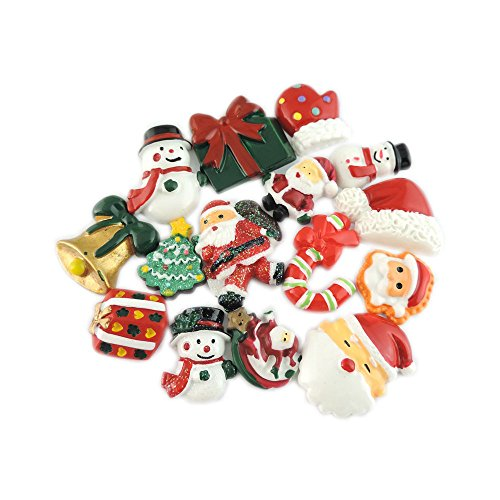 juliewang-30pcs-mixed-resin-flatback-cabochons-christmas-gift-box-tree-snowman-charms-for-crafting-d