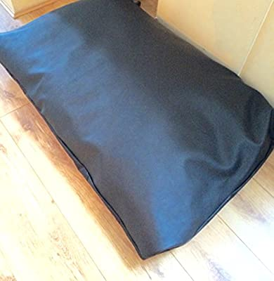 durable black faux leather memory foam large waterproof durable dog bed SPARe COVER ONLY black zipped cover 48i x30
