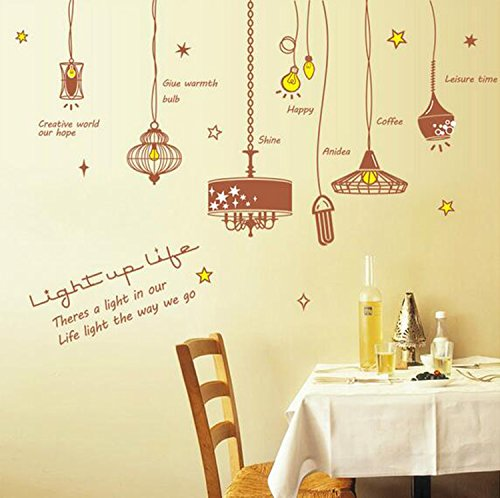 Uniquely Home Decorative Mural Fashion Light Bulb Silhouette Wall Sticker Bedroom Kindergarten Kids Nursery Wall Art Decal Paper 6090cm / 23.6435.46