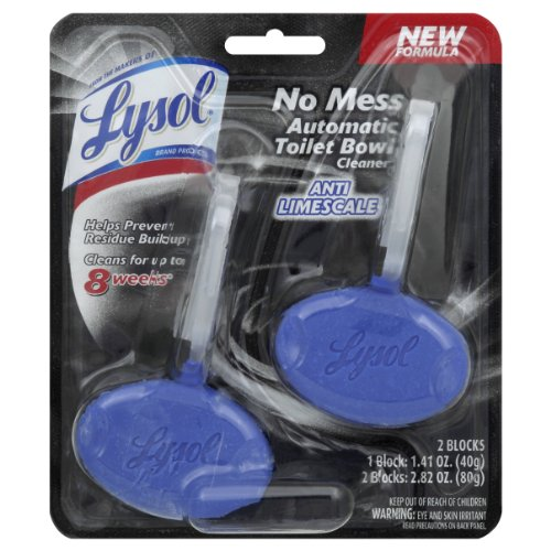 Lysol no mess automatic toilet bowl cleaner anti limescale - Clorox bathroom cleaner with teflon ...