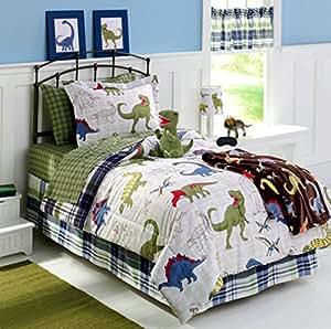 dinosaurs dinos twin comforter sheet set sham home style sleep mask 6 pc
