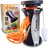 from Harcas Spiralizer Harcas Vegetable Spiralizer With Cleaning Brush