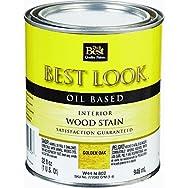 - W44N00802-44 Best Look Interior Wood Stain-OAK INTERIOR WOOD STAIN