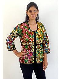 Megh Craft Women's Indian Handmade Kutch Embroidered Jacket / Blazer / Waistcoat