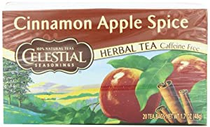Celestial Seasonings Herb Tea, Cinnamon Apple Spice, 20-Count Tea Bags (Pack of 6)