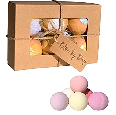 Premium Muscle & Joint Therapy Bath Salt Balls - Essential Oils & Therapeutic Salt Blend- FREE GIFT of Silk Strings in Each Set of 6 Large 4 oz Bath Bombs Organic Bath Bomb Gift Set