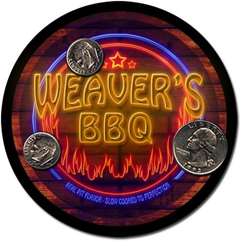 Weaver'S Barbeque Drink Coasters - 4 Pack