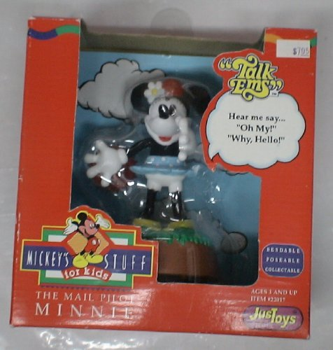 Disney Talk 'Ems Mail Pilot Minnie Mouse Figure - 1