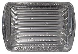 Durable Packaging 3000-30 Disposable Aluminum Broiler Pan, Large (Pack of 500)