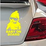 Amazon.co.jpGGG JP ラブリー自動車車のリア ウィンドウのステッカー 赤ちゃんは車にいる上公示ステッカー(黄色い)