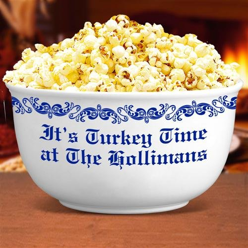 Personalized Thanksgiving Popcorn Bowl