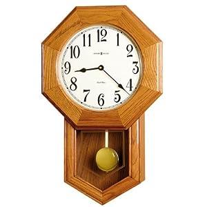 elliot quartz chiming wall clock with pendulum golden oak