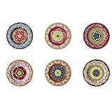 Nador Set of 6 Salad Plates Mixed Colours Mediterranean Style !