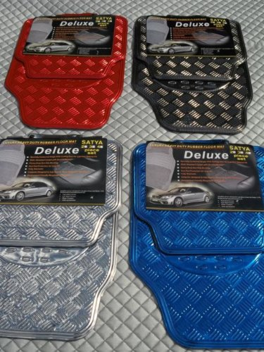 ROVER 25 / 214 / 216 / 218 Car Mats -Checkered Plate PVC Rubber 4 Piece Set - RM 700N