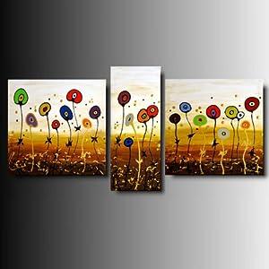 Art mmb garden 3 quadri moderni astratti multicolor for Amazon quadri moderni astratti