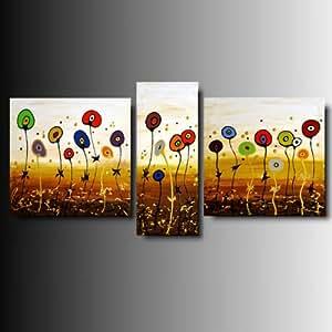 Art mmb garden 3 quadri moderni astratti multicolor for Quadri moderni astratti su tela