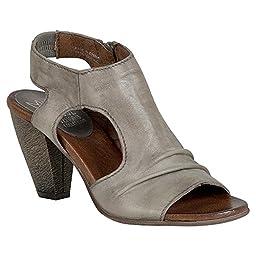 Miz Mooz Women\'s Michelle Heeled Sandal, Stone, 41 EU/10 M US