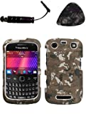 Mobile accessories BLACKBERRY 9360 (Curve) Lizzo Digital Camo Yellow Phone Protector Cover Design Snap on Hard Shell Faceplate AND HiShop(TM) Stylus, Guitar Pick/Pry Tool