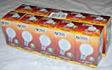 10 x G45 Golf Ball Light Bulbs in 25 Watt Small Bayonet Cap B15 Fitting Opal (White) Finish