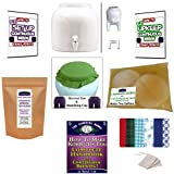 KKamp Continuous Brew Kombucha NO-FRILLS PACKAGE - White w/ Stand + Tee/Cap Set