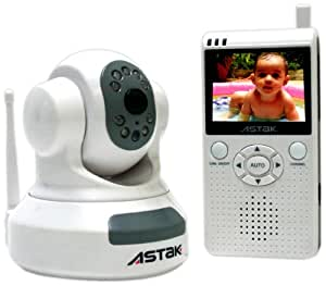 "Astak 2.4 GHz Pan & Tilt Baby Camera with 2.5"" LCD Color Handheld Monitor with Night Vision"