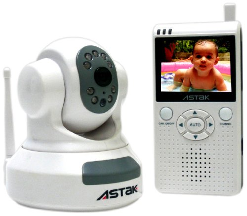"Astak 2.4 GHz Pan & Tilt Baby Camera with 2.5"" LCD Color Handheld Monitor with Night Vision - 1"
