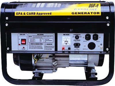 Globe House Products GHP 6.5 HP OHV Horizontal Shaft Engine 3.5 Gal. Gas Tank Power Generator