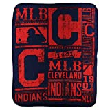 MLB Strength Fleece Throw Blanket 50 x 60 (Cleveland Indians)