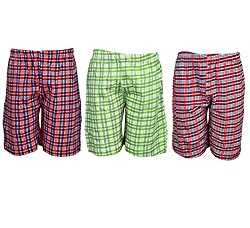 Spictex Boys' Cotton Shorts (Pack Of 3) (SPIC-CT142-PC3-01_Multicolor_8 Years - 9 Years)