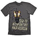 Cheapest Borderlands Claptrap Assassin T-Shirt charcoal S on Clothing