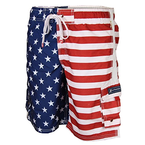 Men's American Flag Swim Trunk Shorts