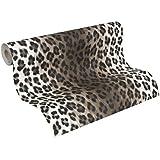 A.S. Création Tapete Dekora Natur, Mustertapete in Leopardenfell-Optik, braun, schwarz, weiß, 663023