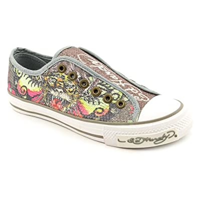 Amazon.com: Ed Hardy Orlean Womens Size 5 Gray Sneakers