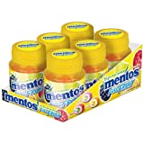 Mentos Gum Full Fruit, 3 Fruit Flavours, Sugar Free, 6 Cans of 35 Chewing Gums